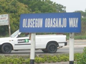Obasanjo\'s street in Accra